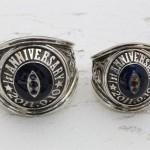 バイカー仕様 ハードなカレッジリングタイプの結婚指輪